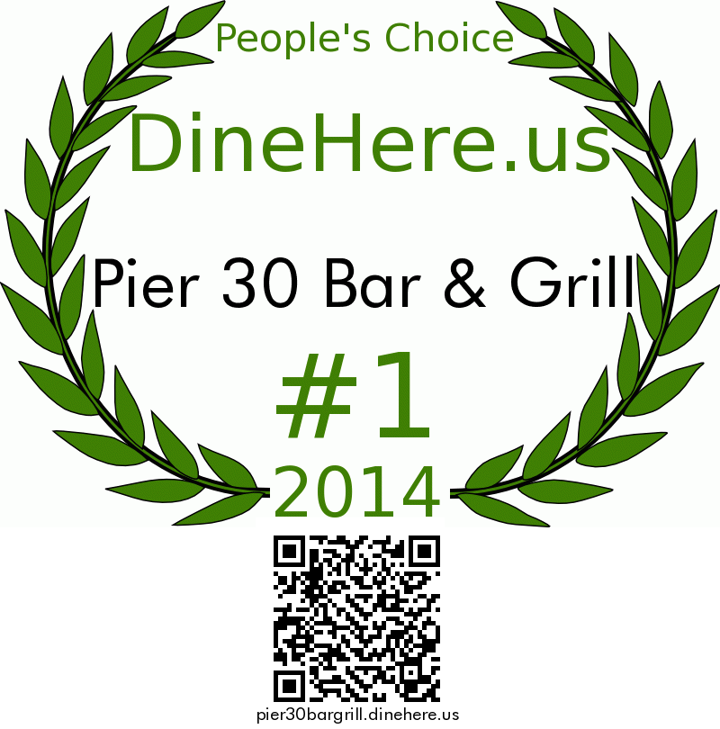 Pier 30 Bar & Grill DineHere.us 2014 Award Winner