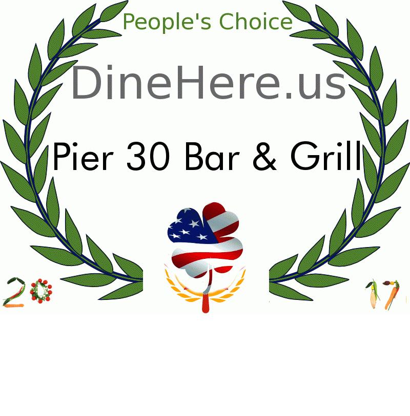Pier 30 Bar & Grill DineHere.us 2017 Award Winner